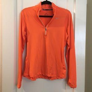 Nike Women's Dri-Fit half zip orange pullover